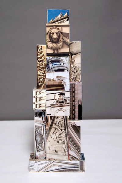 Phototure VI, photographs by the artist on cardboard